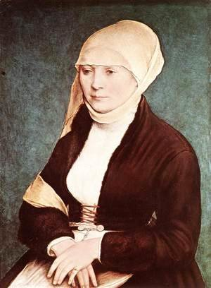 Hans, the Younger Holbein - Presumed Portrait of the Artist's Wife