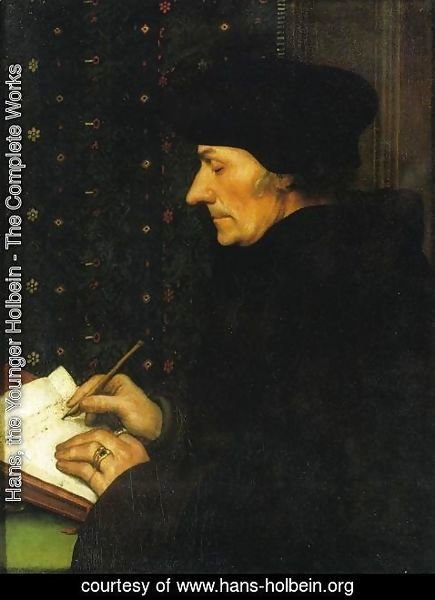 Hans, the Younger Holbein - Portrait of Erasmus of Rotterdam Writing I