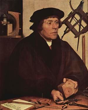 Hans, the Younger Holbein - Portrait of Nikolaus Kratzer