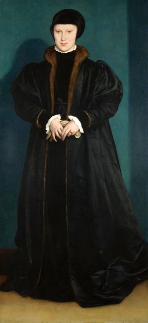 Hans, the Younger Holbein - Portrait of Christina of Denmark