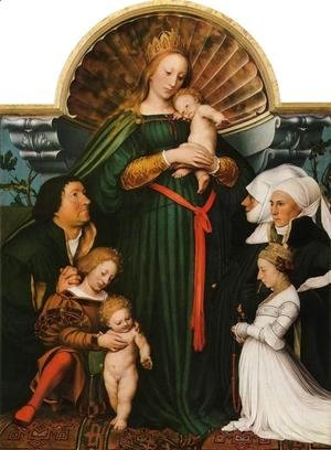 Hans, the Younger Holbein - Meyer Madonna