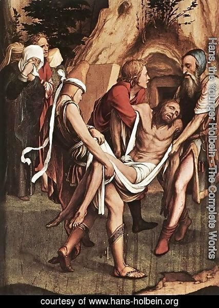 Hans, the Younger Holbein - The Entombment