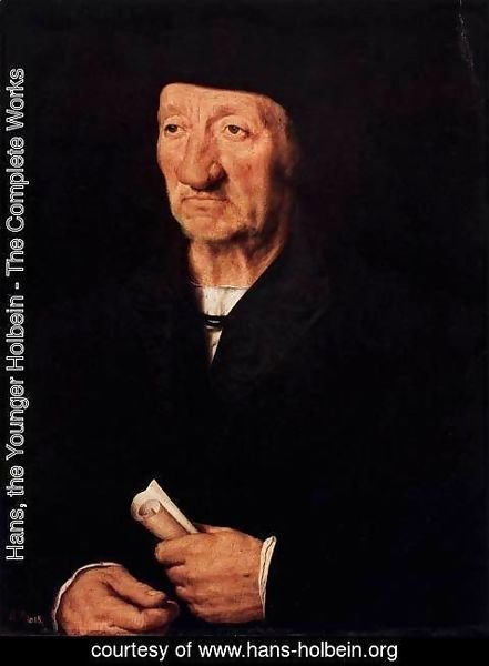 Hans, the Younger Holbein - Portrait of an Old Man