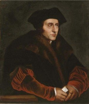 Hans, the Younger Holbein - Portrait of Sir Thomas More (1478-1535), half-length, in a fur lined coat