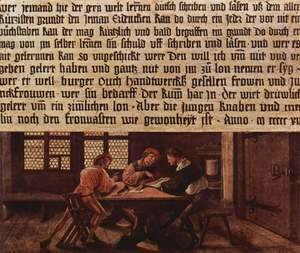 Hans, the Younger Holbein - Summary of a schoolmaster, Scene lessons for adults