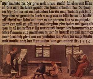 Hans, the Younger Holbein - Summary of a schoolmaster, Scene lessons for children