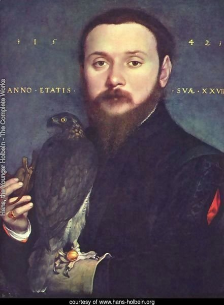 Portrait of a gentleman with a falcon
