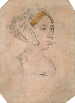 Hans, the Younger Holbein - Portrait of a Lady, thought to be Anne Boleyn
