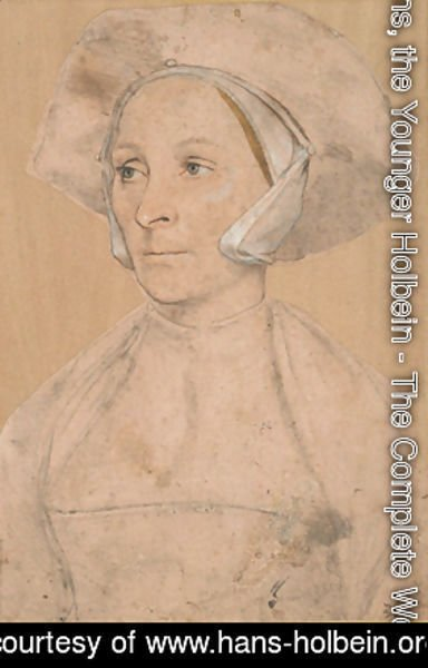 Hans, the Younger Holbein - Portrait of an Englishwoman