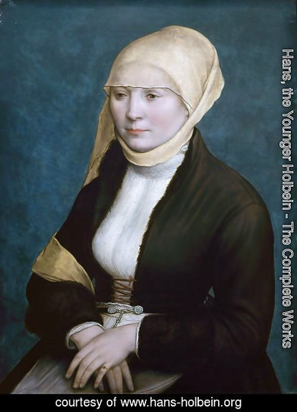 Hans, the Younger Holbein - Portrait of a woman from southern Germany