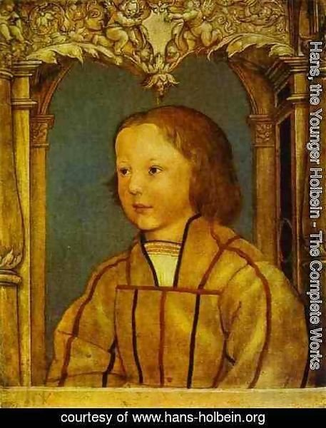 Hans, the Younger Holbein - Portrait of a Boy with Blond Hair