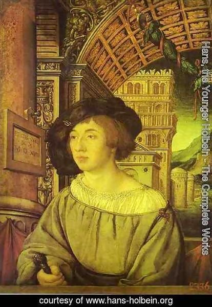 Hans, the Younger Holbein - Portrait of a Young Man 2