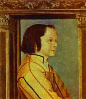Hans, the Younger Holbein - Portrait of a Boy with Chestnut Hair