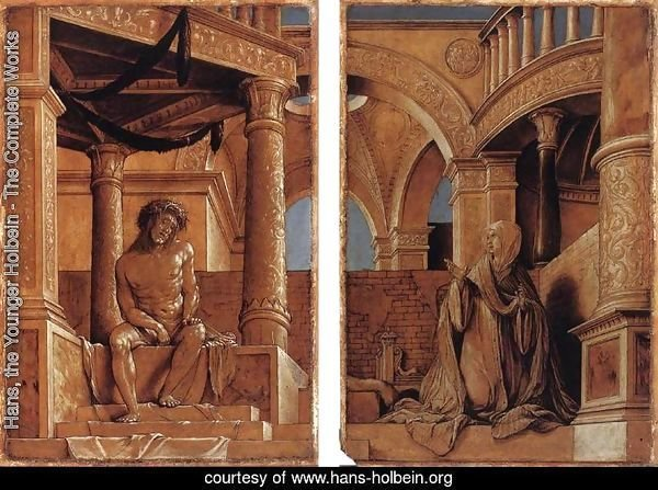 hans the younger holbein the complete works diptych with christ