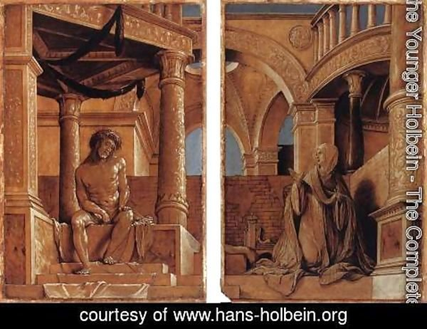 Hans, the Younger Holbein - Diptych with Christ and the Mater Dolorosa c. 1520