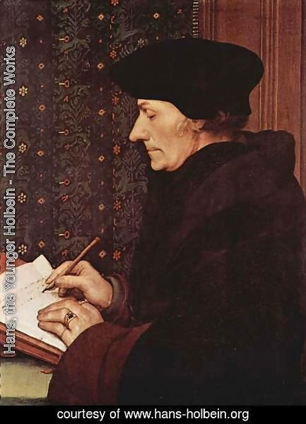 Hans, the Younger Holbein - Erasmus 1523
