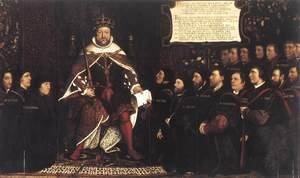 Hans, the Younger Holbein - Henry VIII and the Barber Surgeons c. 1543