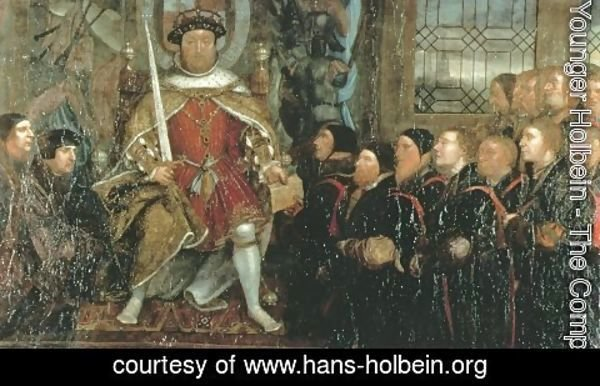 Hans, the Younger Holbein - Henry VIII and the Barber Surgeons (2)  c. 1543