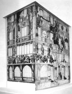 Hans, the Younger Holbein - Model of the `Zum Tanz` house (reconstruction)