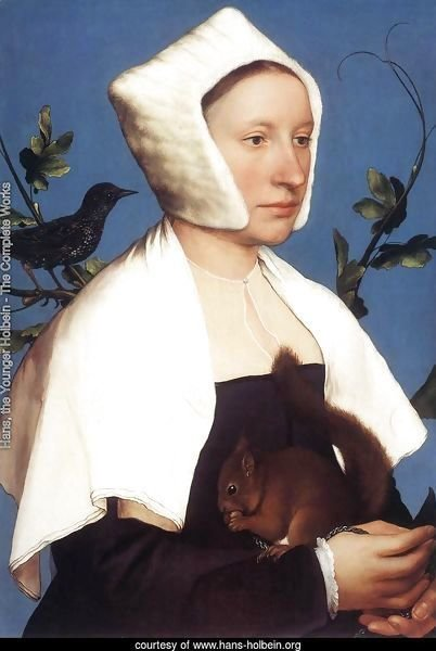 Portrait of a Lady with a Squirrel and a Starling 1527-28