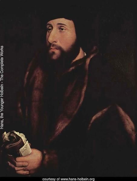 Portrait of a Man Holding Gloves and Letter c. 1540