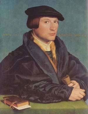 Hans, the Younger Holbein - Portrait of a Member of the Wedigh Family 1532