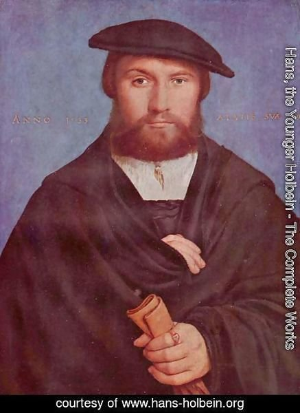 Hans, the Younger Holbein - Portrait of a Member of the Wedigh Family 1533