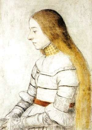Hans, the Younger Holbein - Portrait of Anna Meyer c. 1526