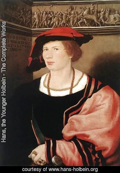 Hans, the Younger Holbein - Portrait of Benedikt von Hertenstein 1517