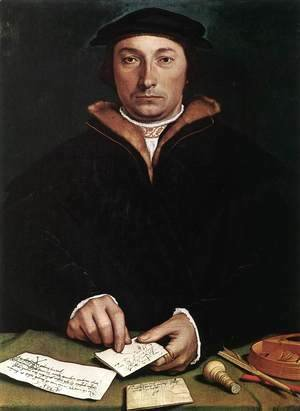 Hans, the Younger Holbein - Portrait of Dirk Tybis 1533