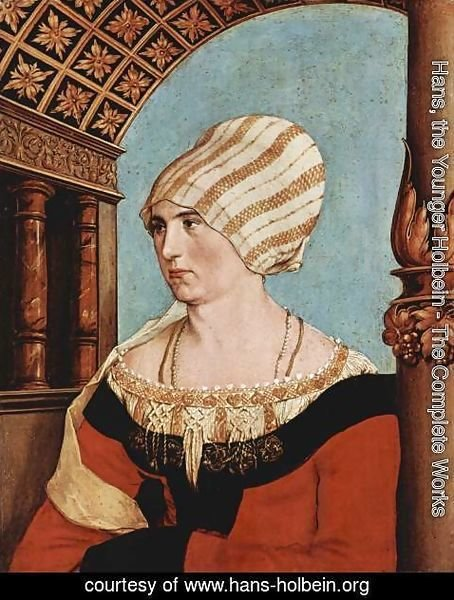 Hans, the Younger Holbein - Portrait of Dorothea Meyer (nee Kannengiesser) 1516