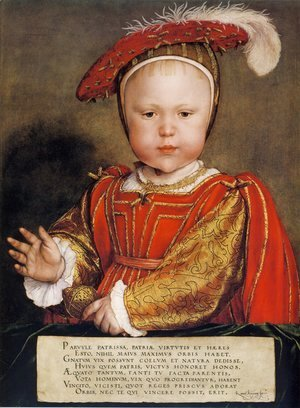 Hans, the Younger Holbein - Portrait of Edward, Prince of Wales c. 1539