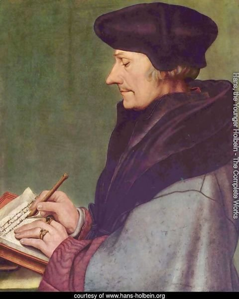 Portrait of Erasmus of Rotterdam Writing 1523