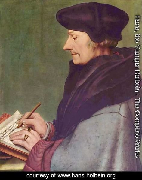 Hans, the Younger Holbein - Portrait of Erasmus of Rotterdam Writing 1523