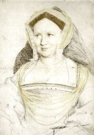 Hans, the Younger Holbein - Portrait of Lady Mary Guildford c. 1527