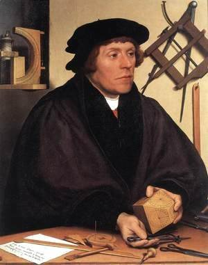 Hans, the Younger Holbein - Portrait of Nikolaus Kratzer 1528