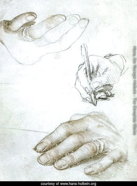 Studies of the Hands of Erasmus of Rotterdam c. 1523