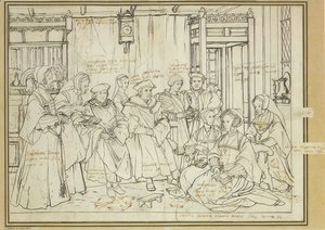 Study for the Family Portrait of Sir Thomas More c. 1527