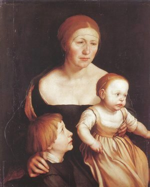 Hans, the Younger Holbein - The Artist's Family 1528