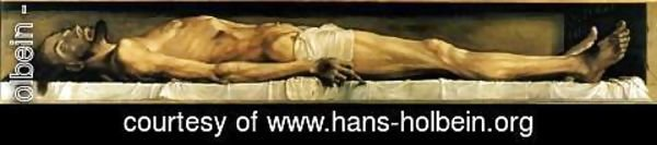 Hans, the Younger Holbein - The Body of the Dead Christ in the Tomb 1521