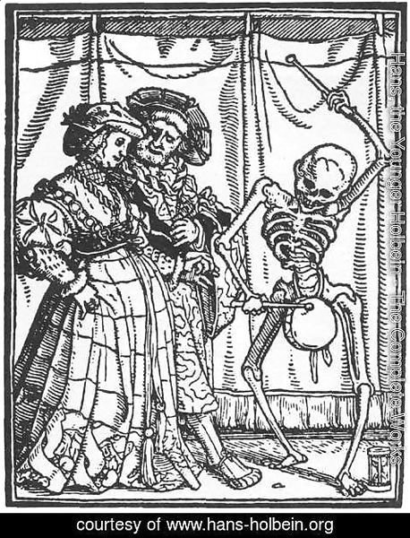 Hans, the Younger Holbein - The Noble Lady from Dance of Death 1524-26