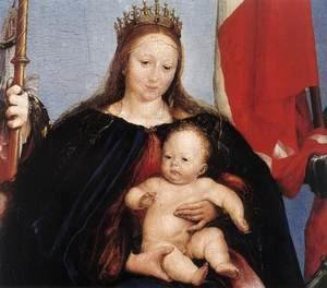Hans, the Younger Holbein - The Solothurn Madonna (detail) 1522