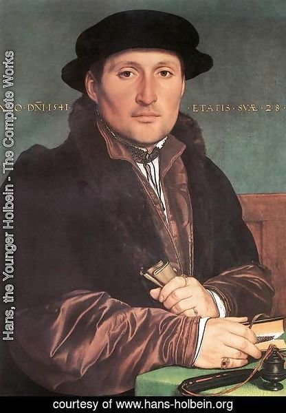 Hans, the Younger Holbein - Unknown Young Man at his Office Desk 1541